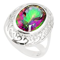 925 sterling silver multi color rainbow topaz ring jewelry size 6.5 c23965