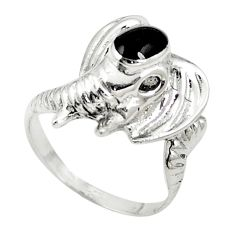 925 sterling silver natural black onyx elephant ring jewelry size 7 c12215