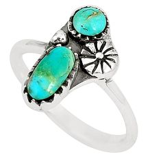 925 sterling silver natural blue kingman turquoise ring size 6.5 c11488