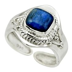 925 sterling silver 3.40cts natural blue kyanite adjustable ring size 7 r49678