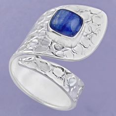 925 sterling silver 3.01cts natural blue kyanite adjustable ring size 8 r54889