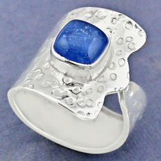 925 sterling silver 3.37cts natural blue kyanite adjustable ring size 9 r63420