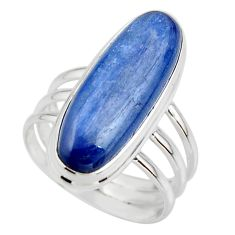 925 sterling silver 7.32cts natural blue kyanite solitaire ring size 6.5 r46888