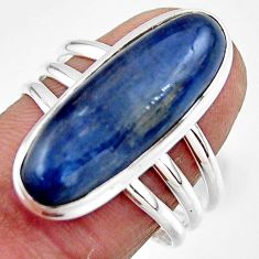925 sterling silver 7.45cts natural blue kyanite solitaire ring size 8.5 r46920
