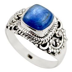 925 sterling silver 3.01cts natural blue kyanite solitaire ring size 7.5 r53440