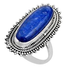 925 sterling silver 5.98cts natural blue kyanite solitaire ring size 7.5 r53756