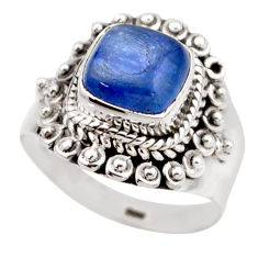 925 sterling silver 3.19cts natural blue kyanite solitaire ring size 6 r53435