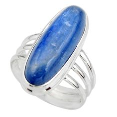 925 sterling silver 7.46cts natural blue kyanite solitaire ring size 7 r46892
