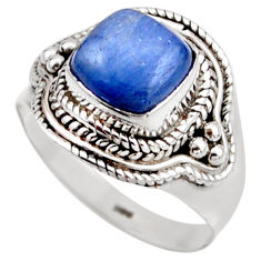 925 sterling silver 3.01cts natural blue kyanite solitaire ring size 7 r53429