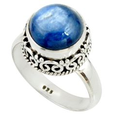 925 sterling silver 5.27cts natural blue kyanite solitaire ring size 8 r22006
