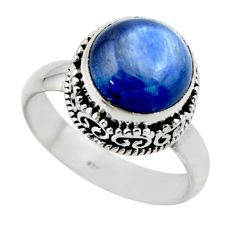 925 sterling silver 5.95cts natural blue kyanite solitaire ring size 8 r49780