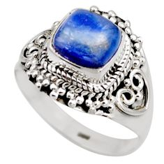 925 sterling silver 3.19cts natural blue kyanite solitaire ring size 8 r53425