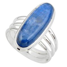 925 sterling silver 7.63cts natural blue kyanite solitaire ring size 9 r46895