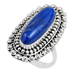 925 sterling silver 7.10cts natural blue kyanite solitaire ring size 9 r53759