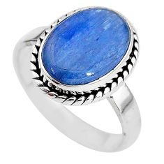 925 sterling silver 6.48cts natural blue kyanite solitaire ring size 9 t2618