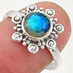 925 sterling silver 2.53cts natural blue labradorite solitaire ring size 7 t5088