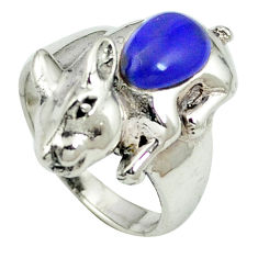 925 sterling silver natural blue lapis lazuli ring jewelry size 6.5 c12056