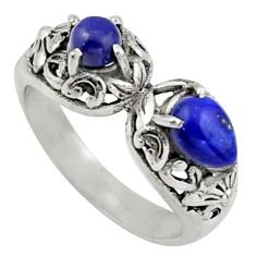 925 sterling silver 2.40cts natural blue lapis lazuli ring jewelry size 7 r40884