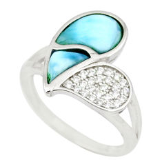 925 sterling silver natural blue larimar topaz ring jewelry size 7 a46896 c15080