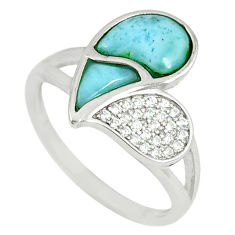 925 sterling silver natural blue larimar topaz ring jewelry size 9 a60684 c15064