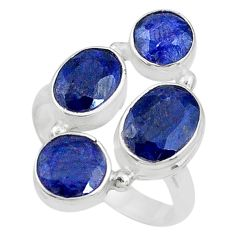 925 sterling silver 7.13cts natural blue sapphire ring jewelry size 8 t10308