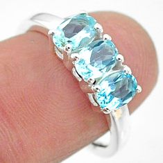 925 sterling silver 2.73cts natural blue topaz ring jewelry size 7 t21256