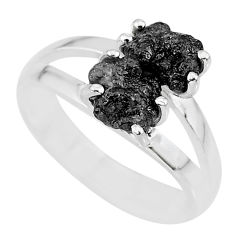 925 sterling silver 2.44cts natural diamond rough ring jewelry size 7 r92064