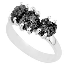 925 sterling silver 3.58cts natural diamond rough ring jewelry size 7 r92319