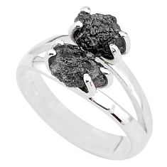 925 sterling silver 5.80cts natural diamond rough ring jewelry size 7 t4294