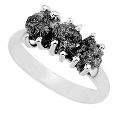 925 sterling silver 3.50cts natural diamond rough ring jewelry size 8 r92309