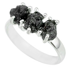 925 sterling silver 3.85cts natural diamond rough ring jewelry size 8 r92360