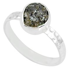 925 sterling silver 1.74cts natural diamond rough solitaire ring size 8 r79048