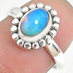925 sterling silver 2.11cts natural ethiopian opal solitaire ring size 7 r75324