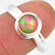 925 sterling silver 2.34cts natural ethiopian opal solitaire ring size 8 r26293