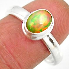 925 sterling silver 2.01cts natural ethiopian opal solitaire ring size 9 r26300