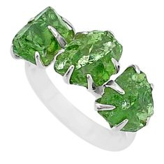 925 sterling silver 8.93cts natural green apatite raw fancy ring size 7 t7053