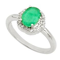 925 sterling silver 3.83cts natural green emerald topaz ring size 7.5 c9855