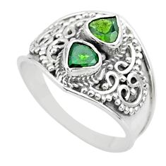 925 sterling silver 1.74cts natural green tourmaline ring jewelry size 9 t44864