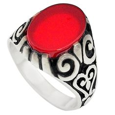 925 sterling silver natural honey onyx oval mens ring jewelry size 9 c22350