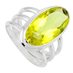 925 sterling silver 7.24cts natural lemon topaz solitaire ring size 6.5 r55984