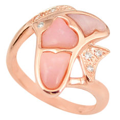 925 sterling silver natural opal topaz 14k rose gold ring size 8 a76309 c15114