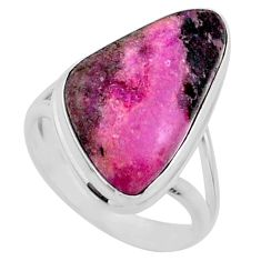 925 sterling silver 11.55cts natural pink cobalt calcite ring size 7 r66048