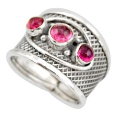 925 sterling silver 2.59cts natural pink tourmaline ring jewelry size 8 d45925
