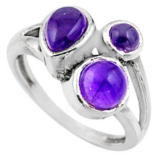 925 sterling silver 3.93cts natural purple amethyst ring jewelry size 7 r54504