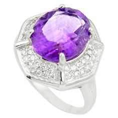 925 sterling silver natural purple amethyst topaz ring size 6.5 c17936