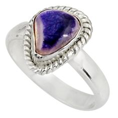 925 sterling silver 3.22cts natural purple opal solitaire ring size 8 d39077