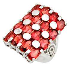 925 sterling silver 13.32cts natural red garnet ring jewelry size 6.5 r25724