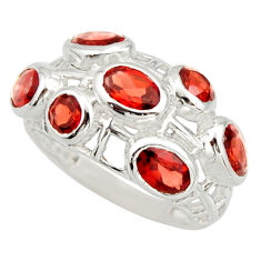 925 sterling silver 5.60cts natural red garnet ring jewelry size 7 r25710