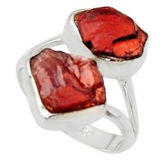 925 sterling silver 12.06cts natural red garnet rough ring jewelry size 8 r49052