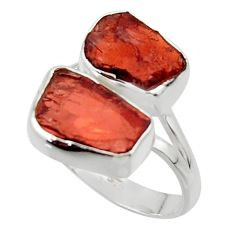 925 sterling silver 12.06cts natural red garnet rough ring jewelry size 9 r49060